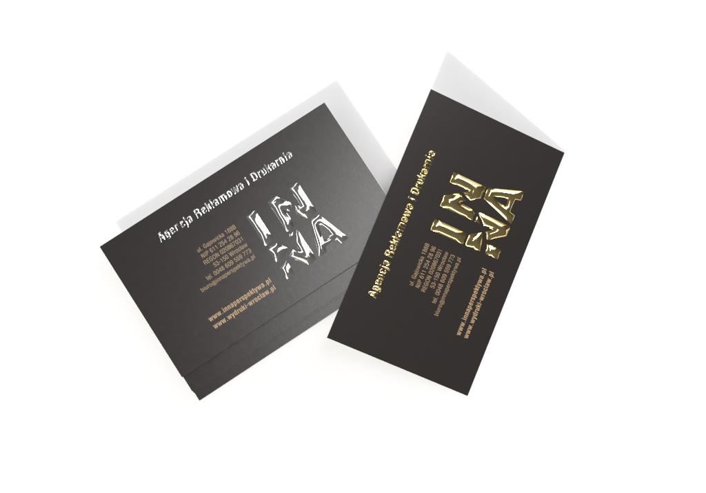 wizytówki złocone lub posrebrzone - drukarnia Wrocław